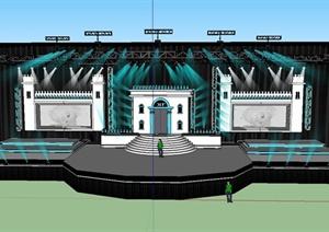 欧式风格舞台场景设计SU(草图大师)模型