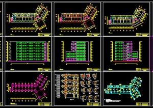 某现代风格学生公寓建筑结构设计cad施工图