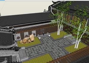某精致古典中式风格会所建筑设计SU(草图大师)模型