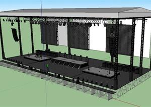 现代钢结构舞台场景设计SU(草图大师)模型