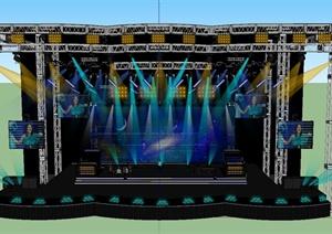 某演唱会舞台场景设计SU(草图大师)模型