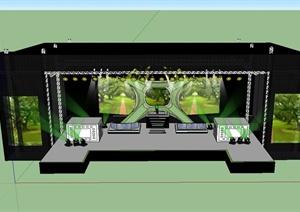 精致详细演唱会舞台场景设计SU(草图大师)模型
