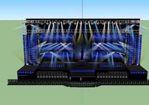 独特详细精致舞台场景设计SU(草图大师)模型