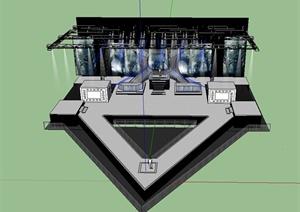 明星演唱会舞台场景设计SU(草图大师)模型