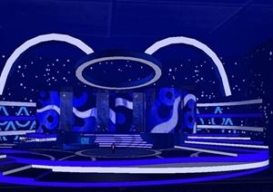 室内舞台设计SU(草图大师)模型