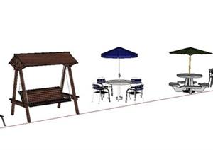 常用室外座椅设计合集SU(草图大师)模型
