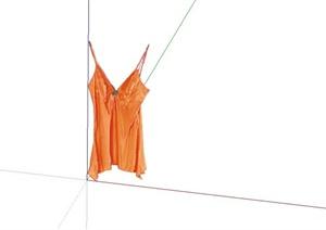 性感吊带设计SU(草图大师)贴图模型