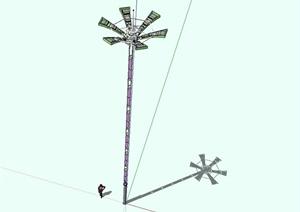 精致现代路灯设计SU(草图大师)模型