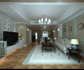 住宅空间,客厅,客厅沙发,沙发茶几,吊灯,电视,电视柜