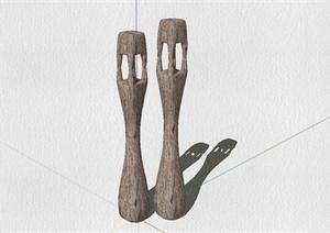东南亚风格木质装饰灯具设计SU(草图大师)模型