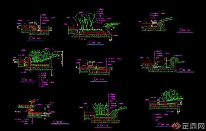 驳岸设计CAD施工图(5)