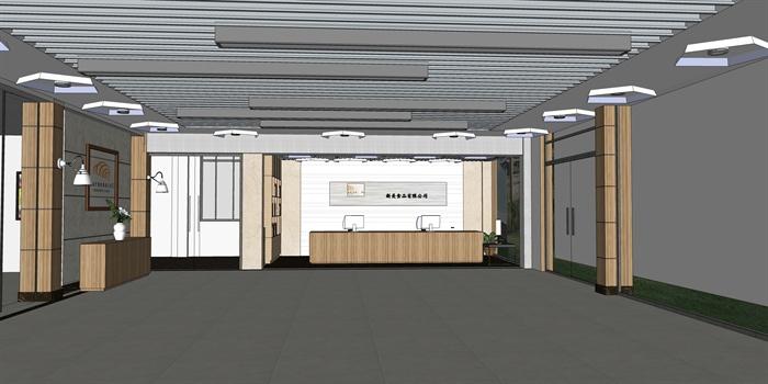 某现代风格室内接待大厅设计su模型
