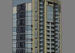 高层办公楼、廊架、凉亭SU(草图大师)模型