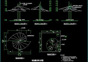 膜结构凉亭及栈桥施工图