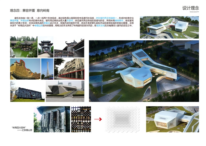 sketchup活动中心博物cad文本su效果图大学生活动中心社区青年宫(13)