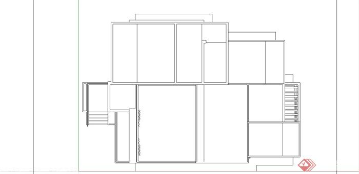 某现代中式风格三层别墅室内装饰设计SU模型(9)
