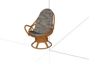 某现代风格独详细沙发椅设计SU(草图大师)模型