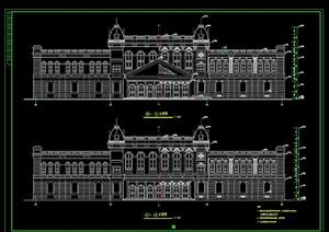 欧式酒店详细建筑设计cad施工图
