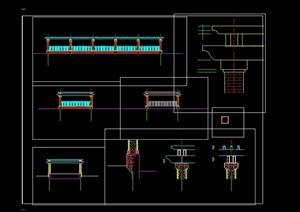 现代风格车库入口廊设计cad方案