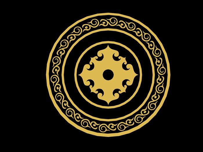 蒙古图案蒙古元素3dmax模型