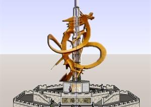 龙腾天械景观雕塑Su模型