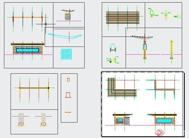 景观廊架详图(1)
