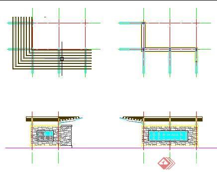 景观廊架详图(2)