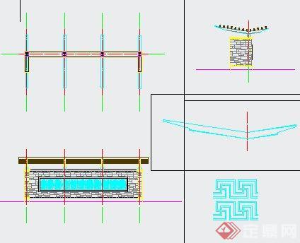 景观廊架详图(4)