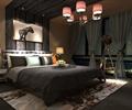 主卧,主卧室,卧室,吊灯,卧室床