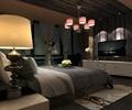 主卧,主卧室,卧室,卧室床,吊灯