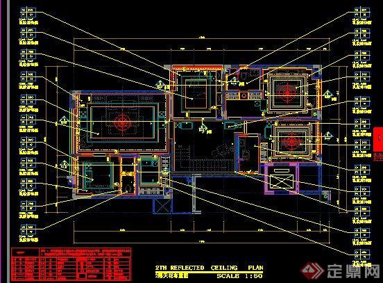 简约中式别墅室内装修设计施工图及效果图(15)