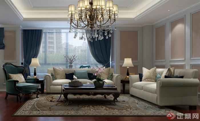 客厅,客厅装饰,客厅沙发,客厅室内,吊灯