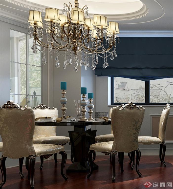 客厅餐厅,餐厅,餐厅装饰,餐桌椅,吊灯