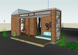 现代工作室书屋建筑设计SU(草图大师)模型