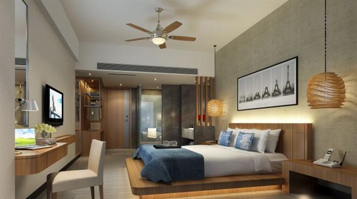 精品客房小公寓草图大师模型加渲染效果图  (2)