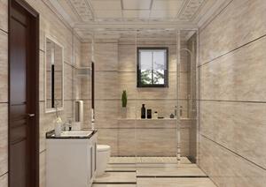 两个卫生间室内装饰设计SU(草图大师)模型