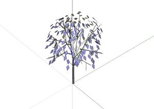 经典简单的乔木植物素材设计SU(草图大师)模型