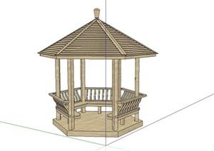简约东南亚风格凉亭设计SU(草图大师)模型