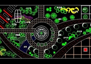 小区入口景观设计图
