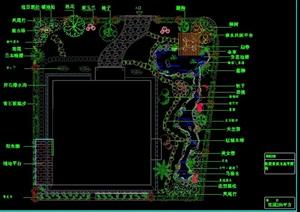 别墅庭院绿化总平面图