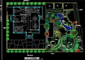 别墅庭院绿化设计方案图