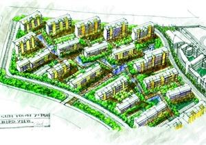 住宅区规划手绘图