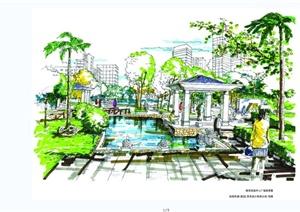 手绘欧式住宅景观方案JPG图片