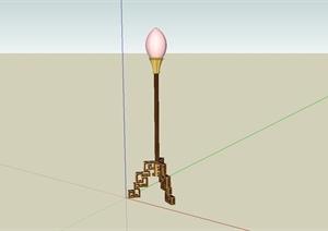 某古典中式风格灯具设计SU(草图大师)模型