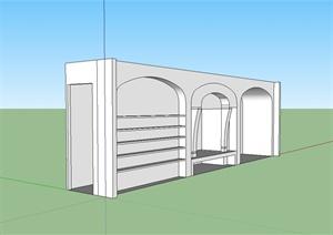 某建筑墙体设计SU(草图大师)模型