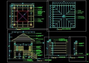 景观凉亭设计施工图