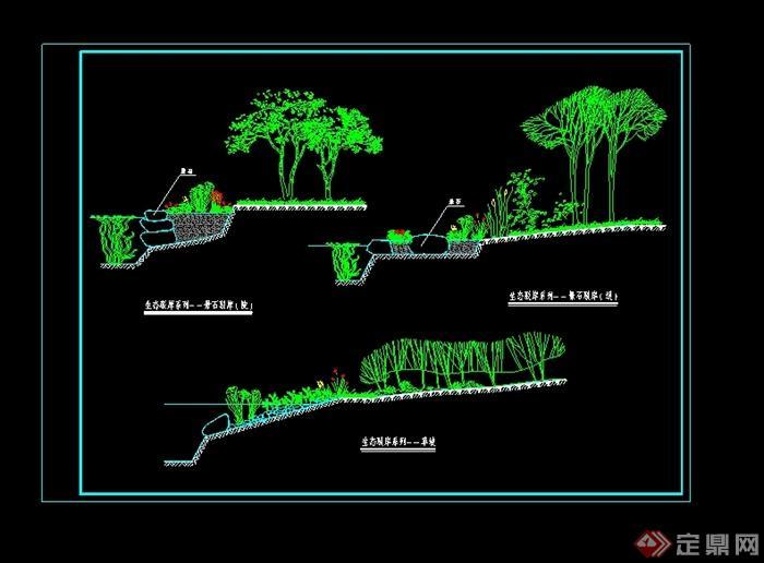 某生态驳岸设计cad方案图(1)