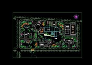 某休闲会所景观规划设计cad方案