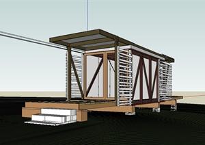 桁架工作室设计SU(草图大师)模型