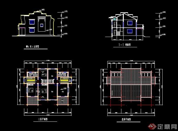 徽派中式别墅建筑方案及效果图(6)